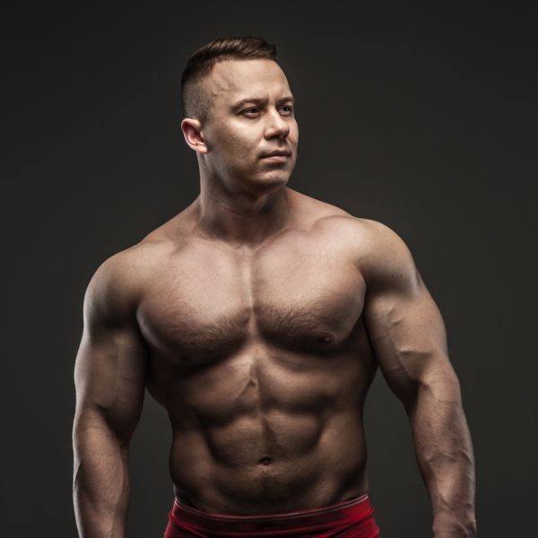 Muscular male in studio